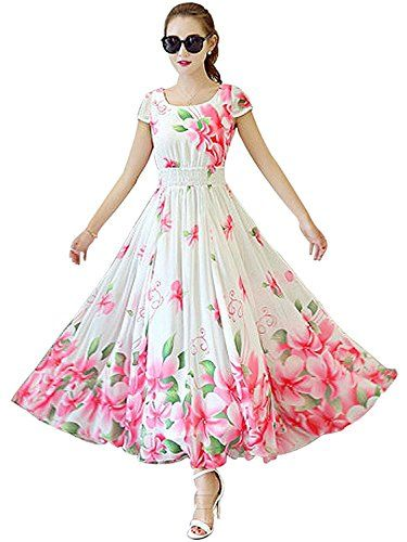 Beautiful Lady Women's Indo-western Floral Print Dressgowns for women party wear (lehenga choli for wedding function salwar suits for women gowns for girls party wear 18 years latest sarees collection 2017 new design dress for girls designer sarees new collection today low price new gown for girls party wear) (BL-45_white_Pink_Free Size) - http://pickeyshop.com/2017/09/27/beautiful-lady-womens-indo-western-floral-print-dressgowns-for-women-party-wear-lehenga-choli-for-wedding