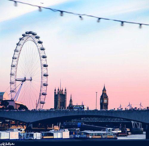 Pink London sky #2020AVEHoliday