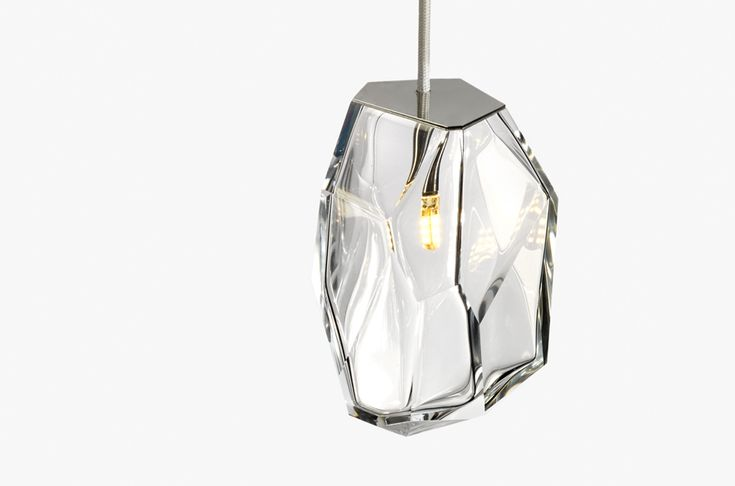 These pendants may look like faceted gemstones, but they're actually cut glass pendant lamps.