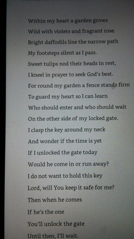 A poem in the Christy Miller series