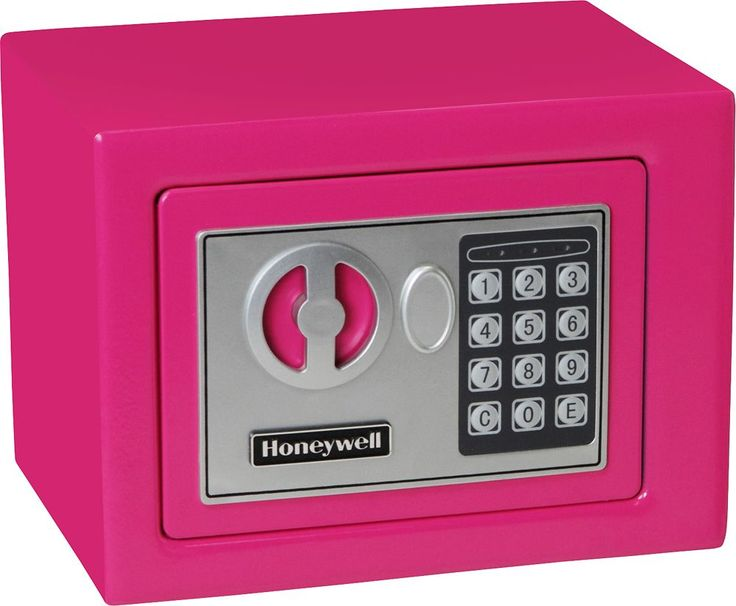 Honeywell - 0.17 Cu. Ft. Security Safe - Pink