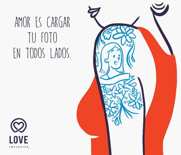 Amor es cargar tu foto en todos lados. #LoveInclusive #LovelyLady #GirlsInLove