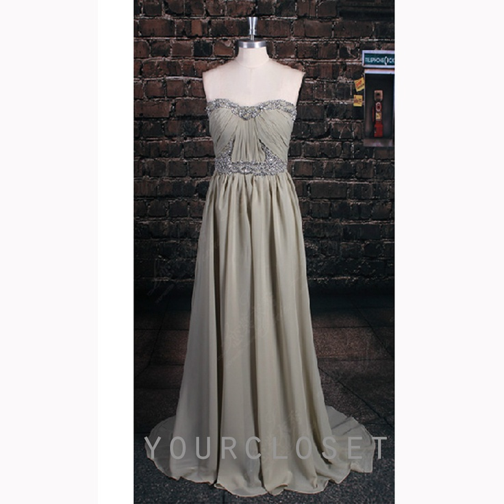 #prom #dress Sweetheart beading chiffon floor-length prom dress #coniefox #2016prom