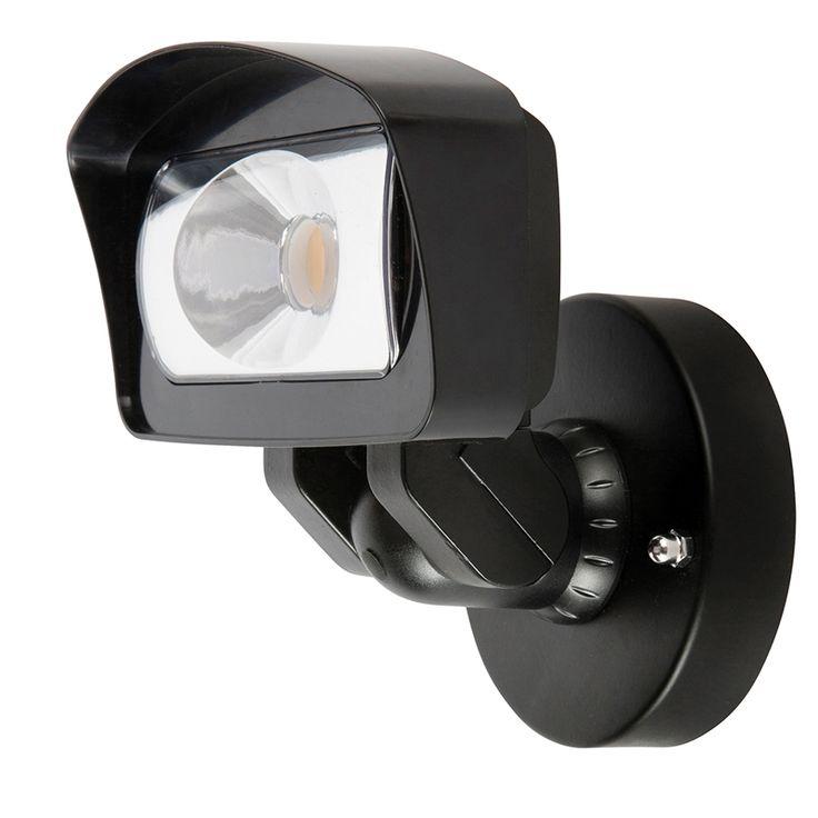 Brilliant 11W LED Black Pantha Security Flood Light