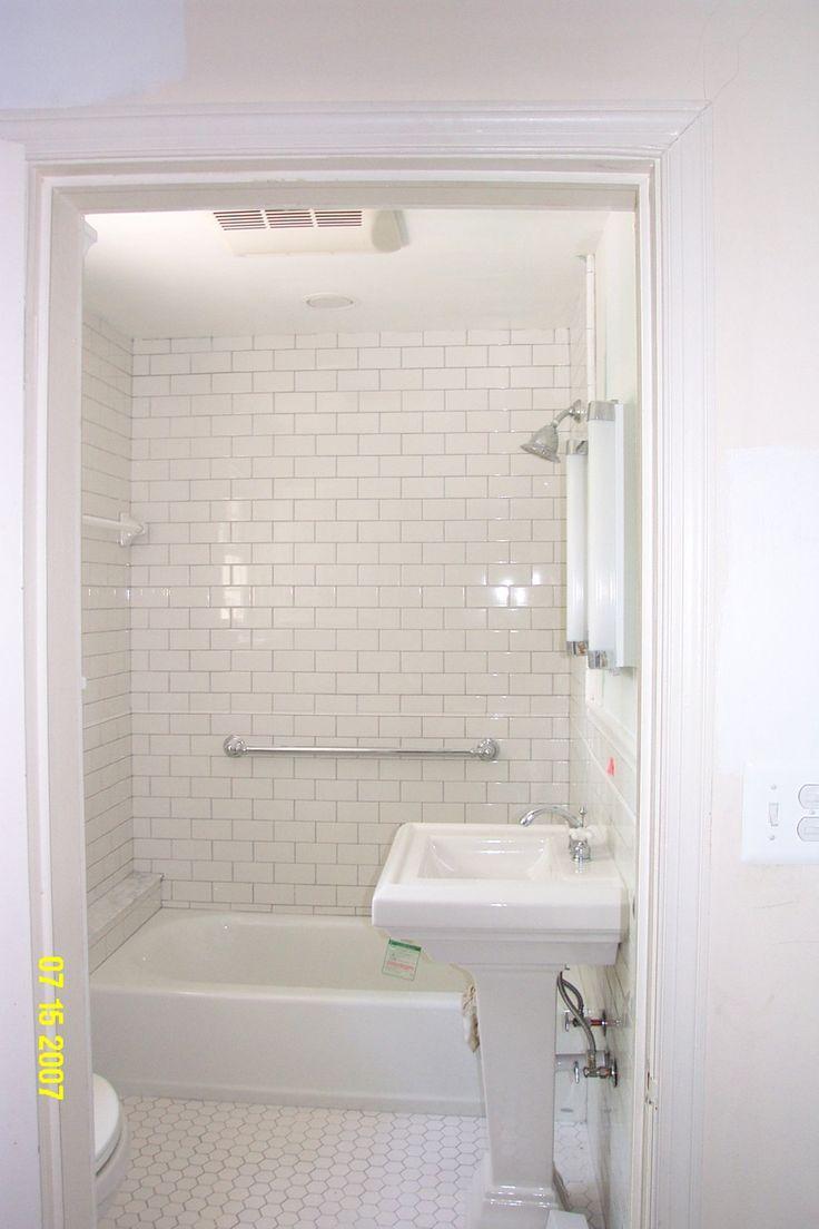 Small Bathroom With White Tile Bathroom Pinterest
