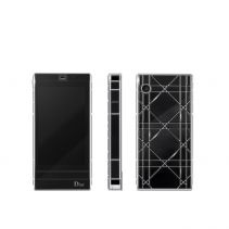 Dior presents their latest mobile phone – a sleek looking touch screen phone with custom ringtones and menu, 3G, camera, mineral glass, MP3 player, WI-FI and Bluetooth connectivity.