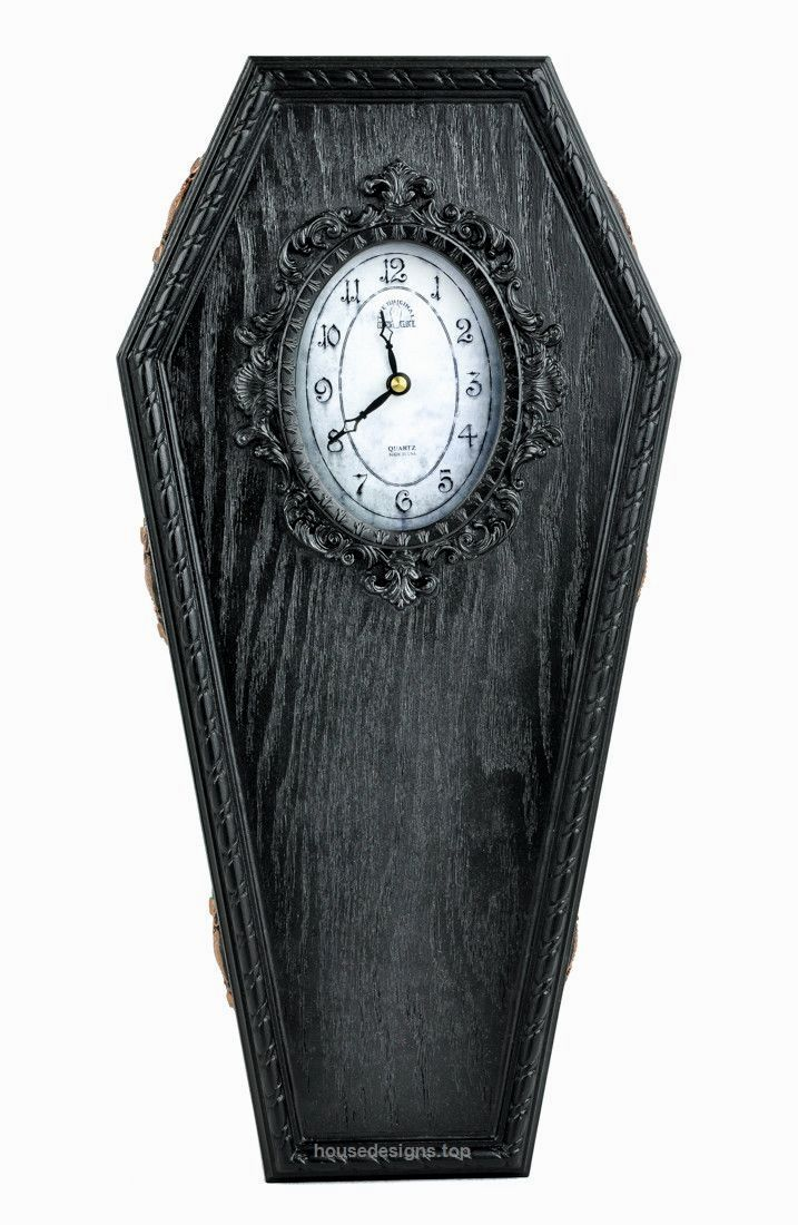 Best 25 victorian wall clocks ideas on pinterest steampunk black classic gothic coffin wall clock halloween home decor httphousedesigns amipublicfo Images