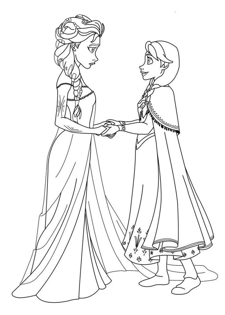 Simple Princess Coloring Pages Frozen | Princess coloring ...