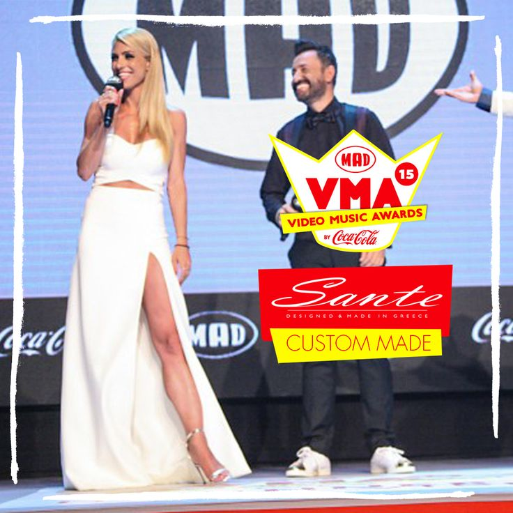 Doretta Papadimitriou in SANTE Custom Made at Mad Video Music Awards 2015 #‎madvma15‬ by ‪#‎cocacola‬ #SanteCustom
