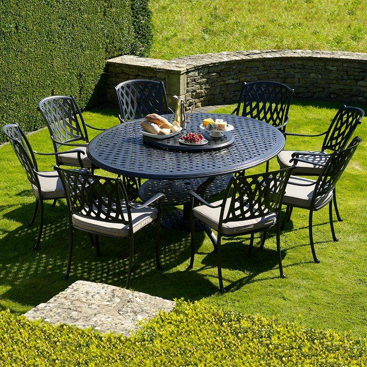 Bramblecrest Turin 8 Seat Oval Cast Aluminium Garden Furniture Set | Internet Gardener
