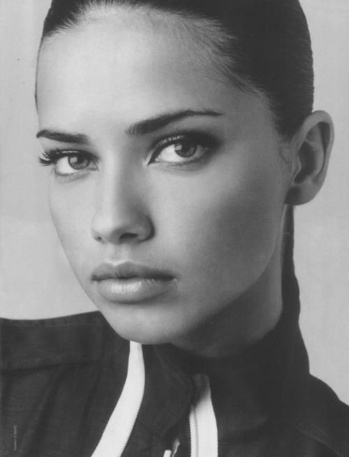 Adriana Lima when she was younger.