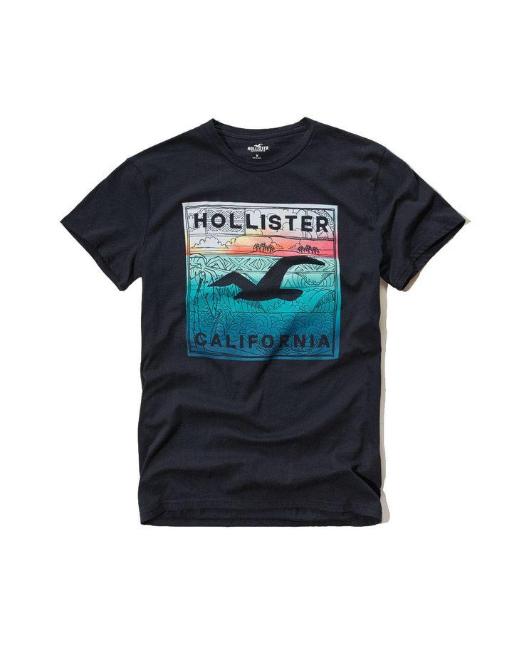 Hollister Mens T Shirt Black
