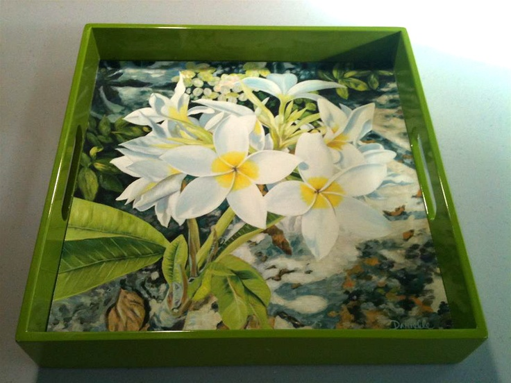 Beautiful hand made lacquered trays featuring my art. All my paintings can be featured in trays, tray colors are limited. Please confirm tray color.  http://danielleperryfineart.com/collections/41841