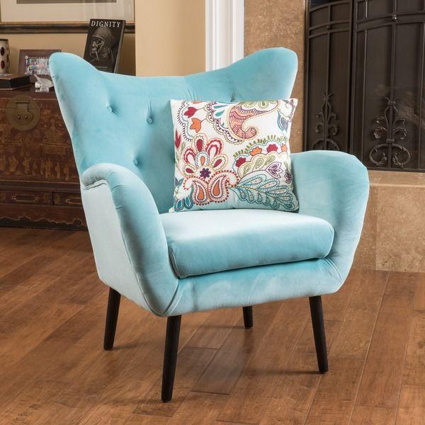 Best Alyssa Velvet Arm Mid Century Style Chair By Christopher 640 x 480