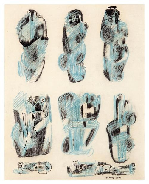 Henry Moore - Nine Ideas for Sculpture, 1937