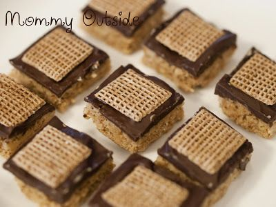 Shreddies No Bake Peanut Butter Treats {Recipe} - Outside The Box