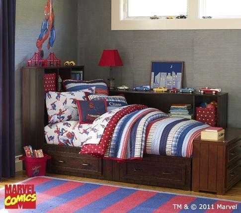 Spiderman Bedding Pottery Barn Kids Superhero Bedroom