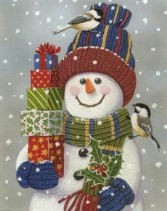 SNOWMAN WITH CHRISTMAS GIFTS!