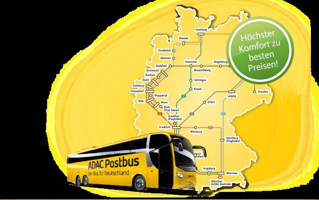 ADAC Postbus | Bus & Fernbus - Busreisen günstig durch Deutschland