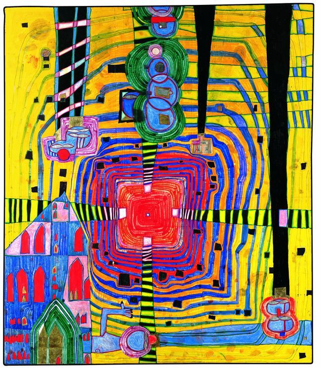196 best images about hundertwasser on pinterest organic form vienna and what is contemporary art. Black Bedroom Furniture Sets. Home Design Ideas