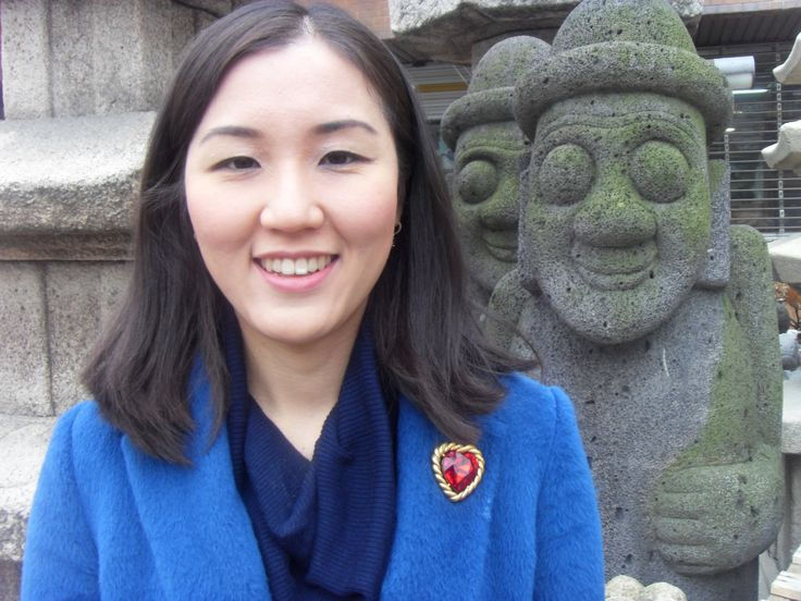 Besides Dol hareubang, Jeju Island's traditional stone object At the antique art object store town near mom's clinic.