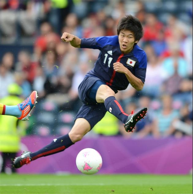 Japane #11, his name is NAGAI. He run faster than Miyaichi.