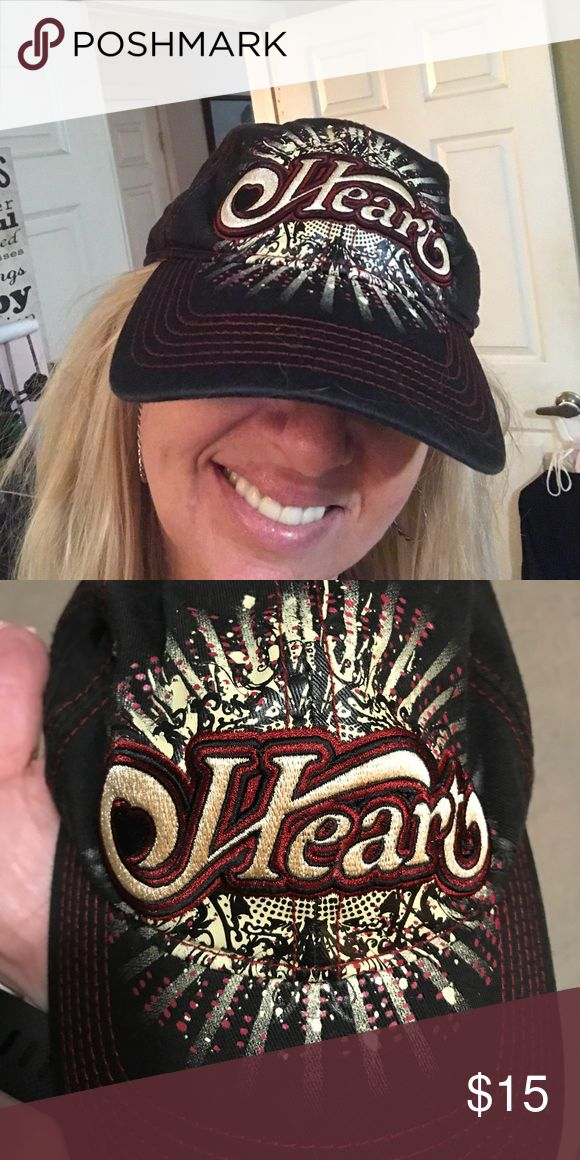 Heart concert ball cap Heart concert ball cap perfect condition never worn. I love it but I never wear it! Accessories Hats