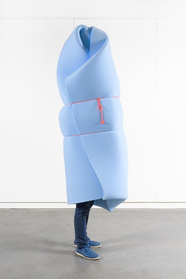"""""""Invertuals is a photo series created for the group Dutch Invertuals, used as press-material during the Salone del Mobile, Milano 2010. All the participants are covered up with big foam volumes."""""""