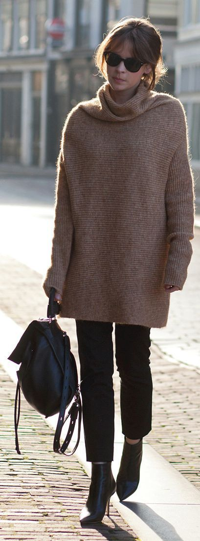Comfy Oversized Turtleneck Sweater