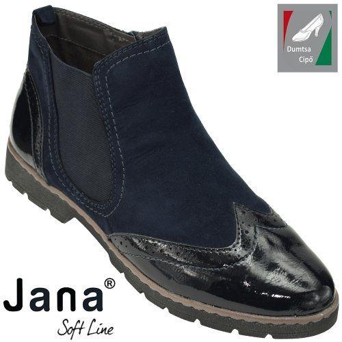 Jana Soft Line női bokacipő 8-25446-21 805 sötétkék  6094997f53