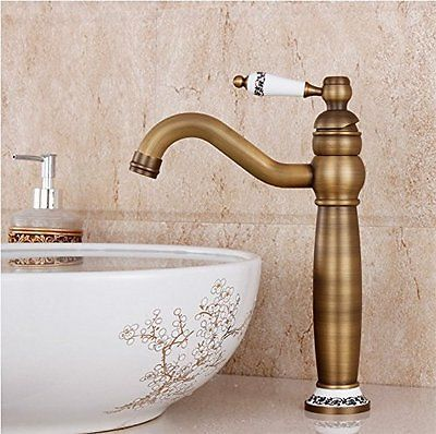 Waschbecken Wasserhahn Messing antik einzigen Handgriff centerset Wasserhahn