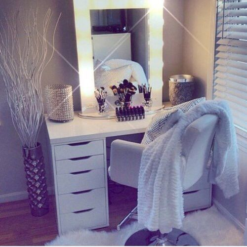 makeup room and bedroom image - Dressing Room Bedroom Ideas