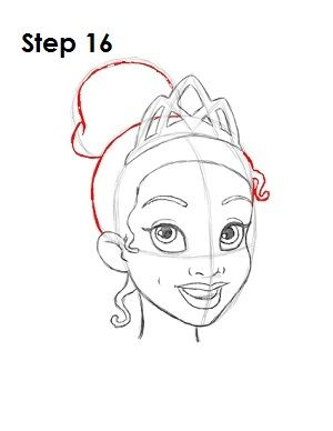 How to Draw Tiana Step 16