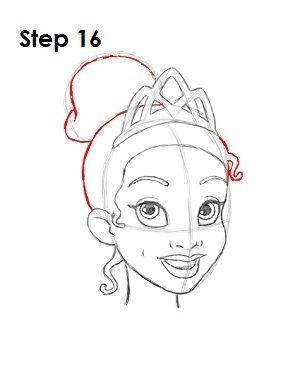How to Draw Tiana Step 16