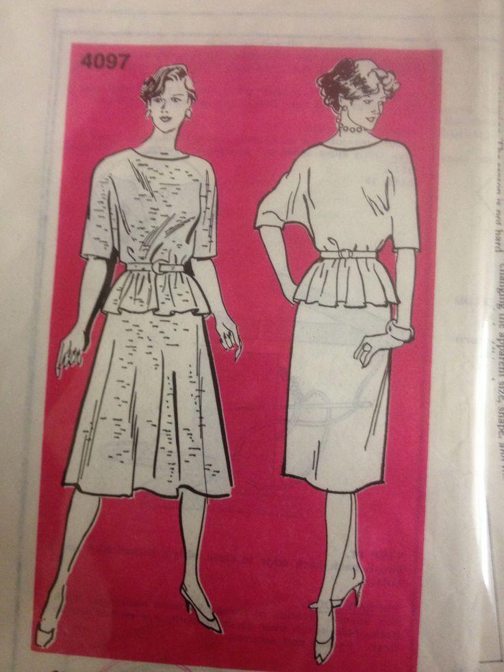 Melbourne Sun Pictorial 4097, Skirt top belt, Sz (32.5-3), 1980s