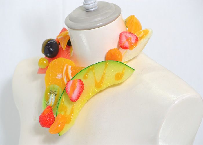 【食品サンプル】彩りフルーツのネックレス【アクセサリー】