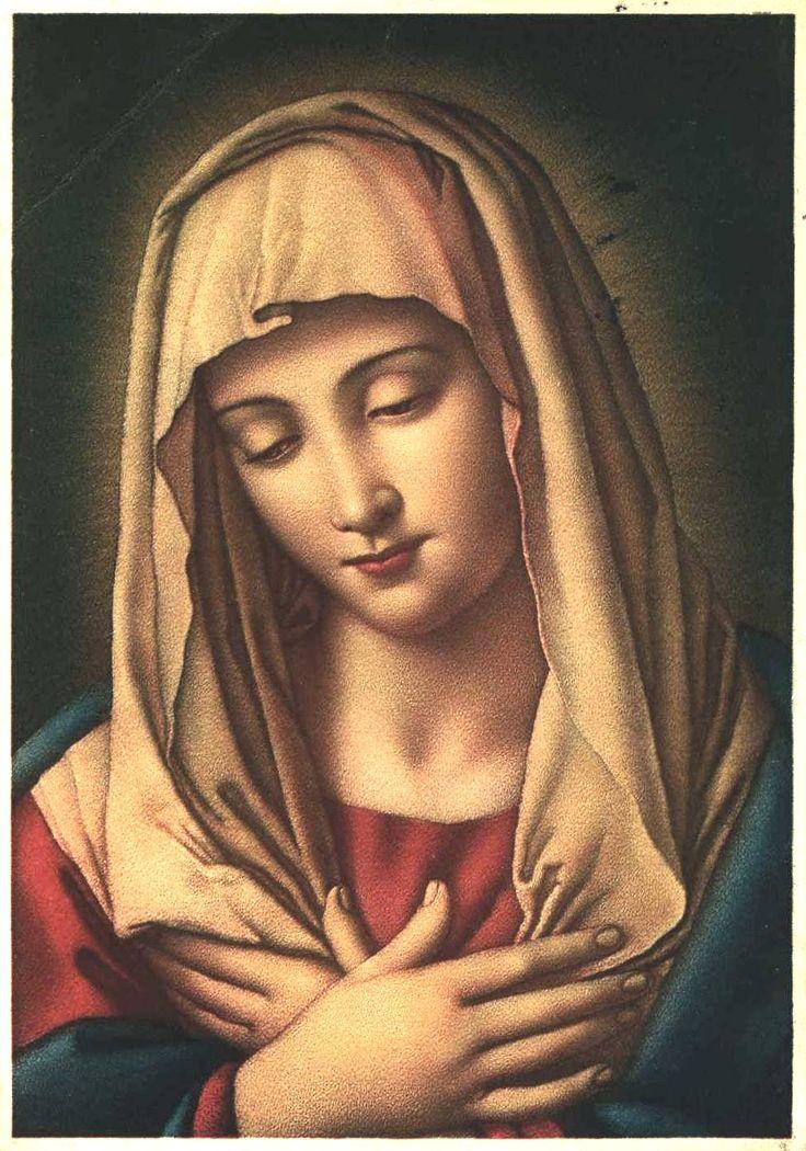 Virgen Mara con forma de arcilla pasta de azcar de