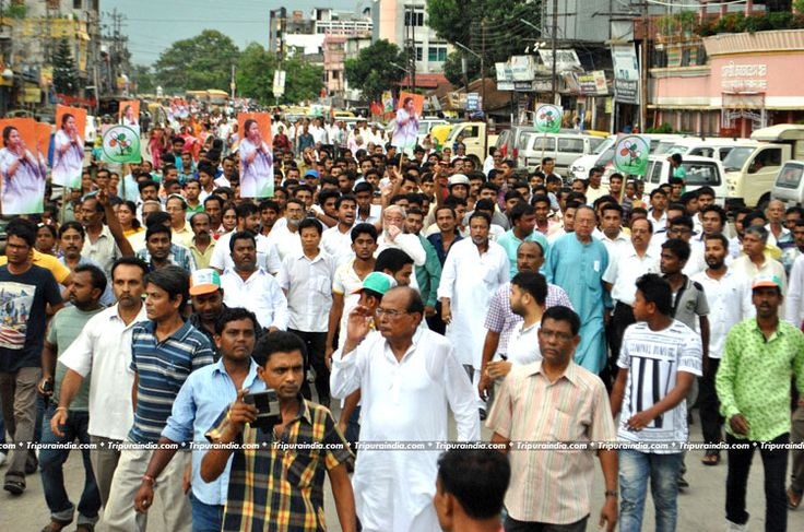 A colorful Rally organized by TMC at Agartala on 07 June 2016 http://www.tripuraindia.com/
