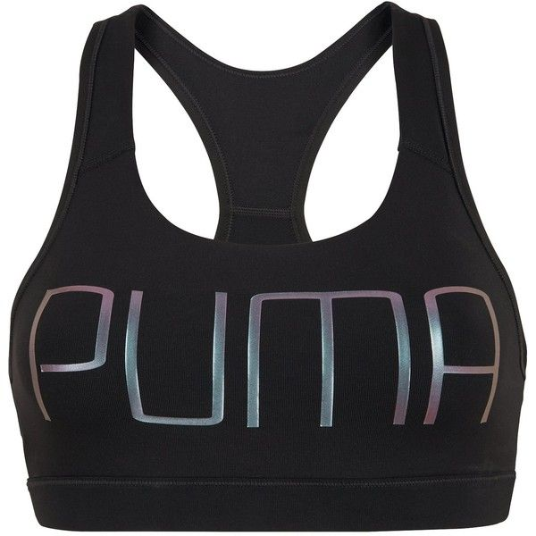 Puma Powershape Forever Logo Bra (475 MXN) ❤ liked on Polyvore featuring activewear, sports bras, puma sports bra, logo sportswear, puma activewear and puma sportswear