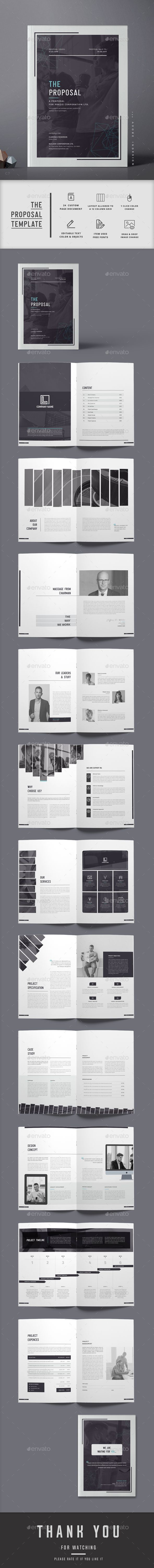Proposal — InDesign INDD #report • Available here ➝ https://graphicriver.net/item/proposal/20860145?ref=pxcr