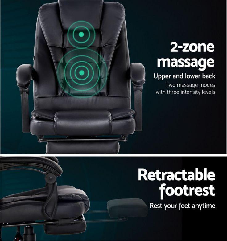Artiss electric massage office chairs recliner computer