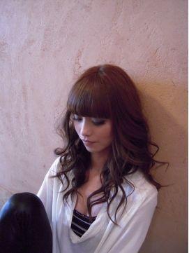 グラマラスモード。最強にかわいい♡セミロングヘアのぱっつん前髪♡