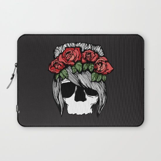 Buy Skull & Roses I by MAJA as a high quality Laptop Sleeve. Worldwide shipping available at Society6.com. Just one of millions of products available.
