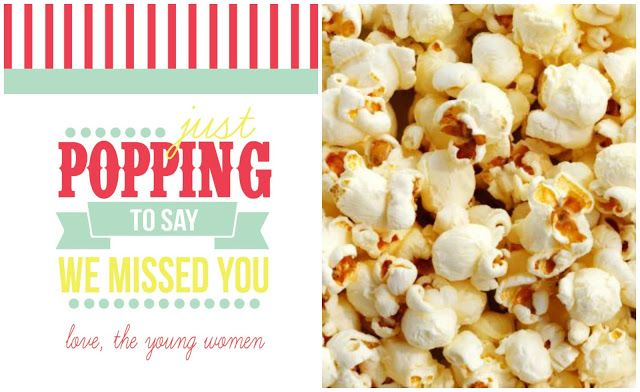 """""""Popping by to say we missed you"""" free printable"""