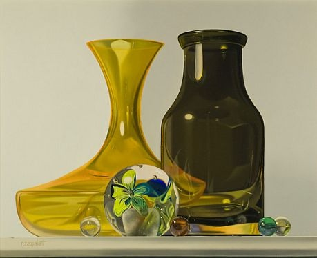 Robert E. Zappalorti, Yeoward And The Glass Flower, 2007, oil on panel, 14 1/2 X 11 1/2 inches