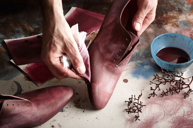 Wine-Dyed Shoes for Oenophiles via esquire. These shoes are beautiful!