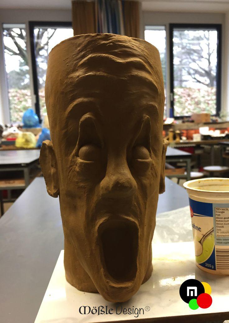 """Abgetrennter und aufhängebarer Kopf. Inspired by Edward Munch """"Der Schrei"""""""