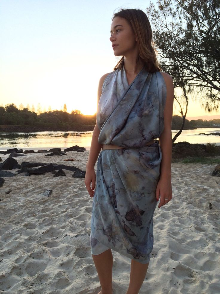 A personal favourite from my Etsy shop https://www.etsy.com/au/listing/268003660/plant-dyed-pure-matt-satin-silk-sarong