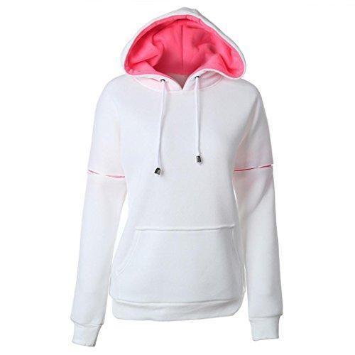 Oferta: 12.98€. Comprar Ofertas de FEITONG Las mujeres otoño invierno belleza con capucha Algodón sudaderas casuales Manga larga camisa (XL, blanco) barato. ¡Mira las ofertas!