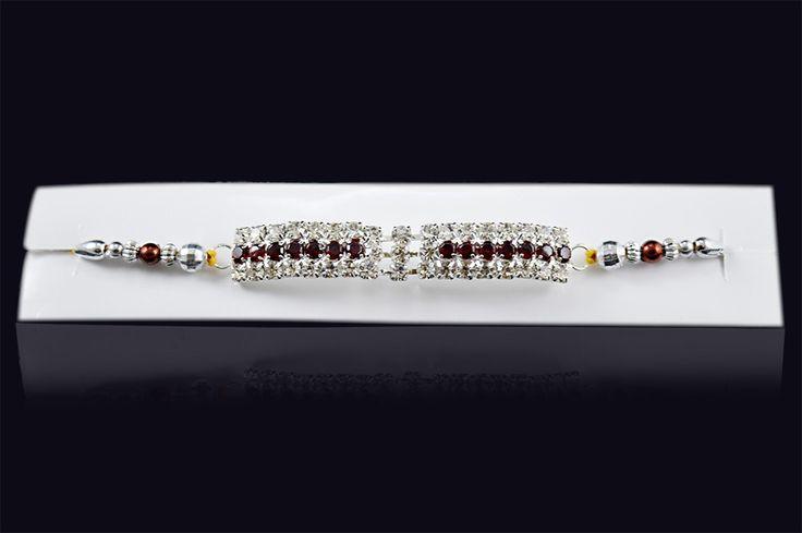 Send+Rakhi+Online+Exclusive+Multi+Colour+Diamond+Free+Price+₹0.00